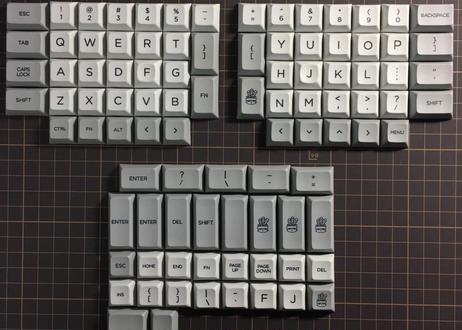 DSA PBT DyeSub ERGO 95 キーキャップ セット(グレー/ライトグレー)