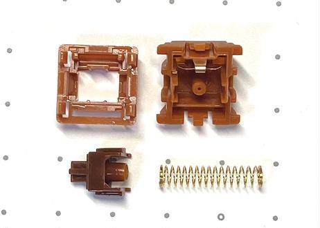 Gateron CAP V2 キースイッチ Gold Brown (ブラウン/5ピン/55g/タクタイル/5個)