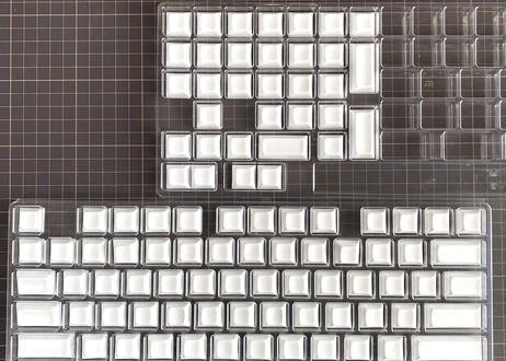 DSA PBT ブランクキーキャップセット(104キー/ホワイト)