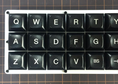 Gherkin キーボードキット (Mattewhite acrylic plate)