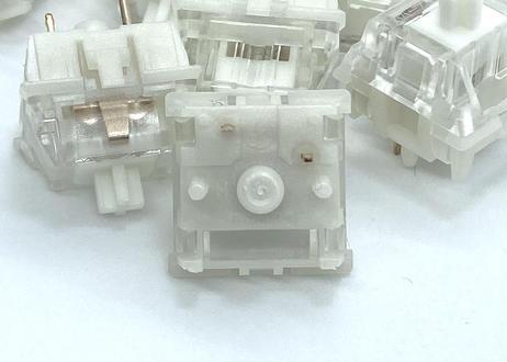 Gazzew Boba U4 サイレントタクタイル キースイッチRGB(クリアトップ/5ピン/62g/5個)