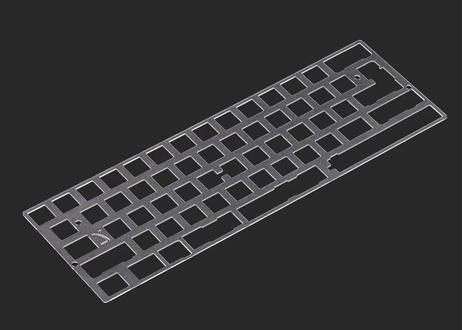 KBDfans 60% PC material plate(ポリカーボネートプレート/2.25U left shift)