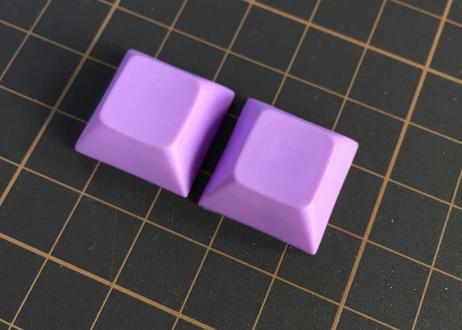 DSA PBT ブランク キーキャップ  (パープル/2個)
