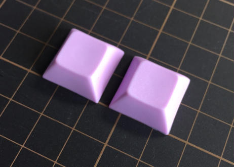 DSA PBT ブランク キーキャップ  (ライトパープル/2個)