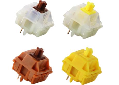 Gateron CAP V2 キースイッチ Milk Yellow (ミルク/イエロー/5ピン/50g/リニア/5個)
