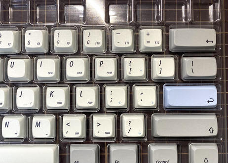 NP DyeSub PBT キーキャップセット(グレー / ホワイト)