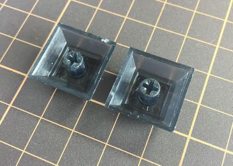 DSA ブランク キーキャップ  (半透明ブラック/2個)