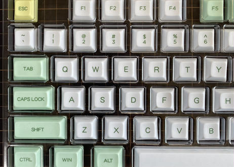 DSA Mint-White DyeSub PBT 120キー キーキャップセット