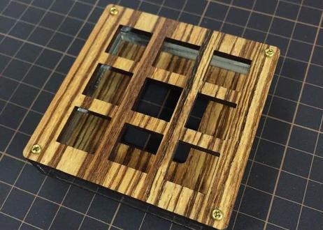 TALPKEYBOARD キースイッチテスター (3x3 / ゼブラウッドMDF)