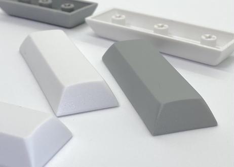 DSA PBT ブランク キーキャップ  (1個/Space 2.75U/ホワイト/グレー)