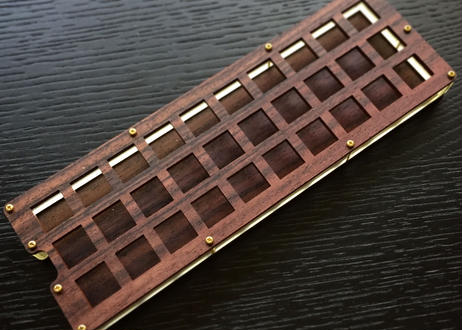 Gherkin キーボードキット (Rosewood MDF plate)