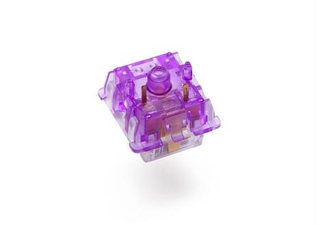 Everglide Crystal Violet キースイッチ (クリア/パープル/5ピン/45g/タクタイル/5個)