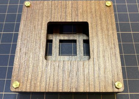 キースイッチテスター (3x3 /ウォルナットMDF)