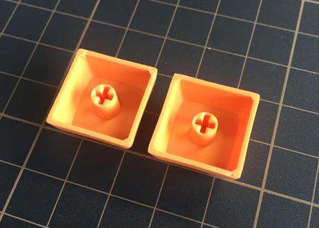 XDA  PBT ブランク キーキャップ (オレンジ/2個)