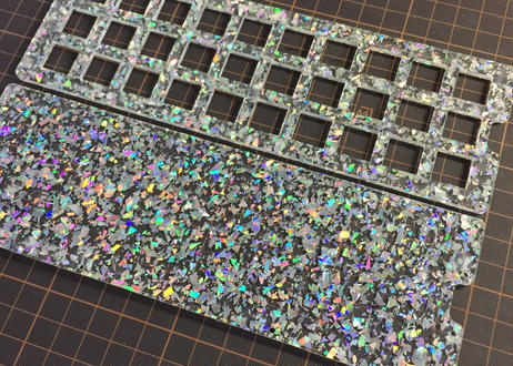 Glitter Acrylic plate for Gherkin Kit