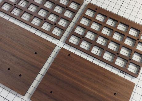 Let's Split キーボードキット (Walnut MDF Plate)