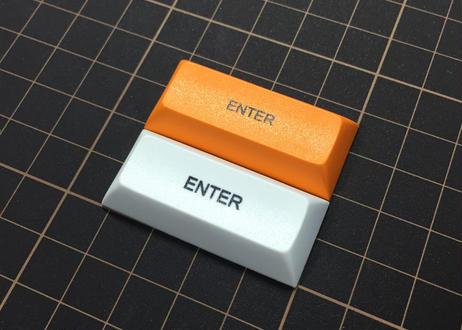 DSA PBT キーキャップ (1個/2.25U/ENTER/ホワイト/オレンジ)