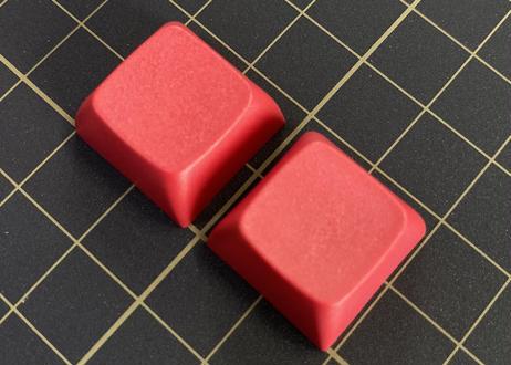 XDA  PBT ブランク キーキャップ (レッド/2個)