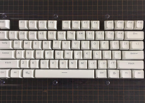 SA Translucent Double Shot 104 Keycap Set (White)