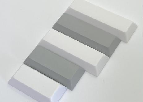 DSA PBT ブランク キーキャップ  (1個/Space 3U/オフホワイト/ブラック)