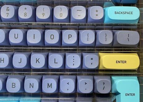 IDOBAO MA PBT DyeSub キーキャップセット(142キー/ブルー)