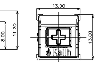 Kailh KH ミッドハイトキースイッチ Red(トップクリア/5ピン/45g/リニア/10個)