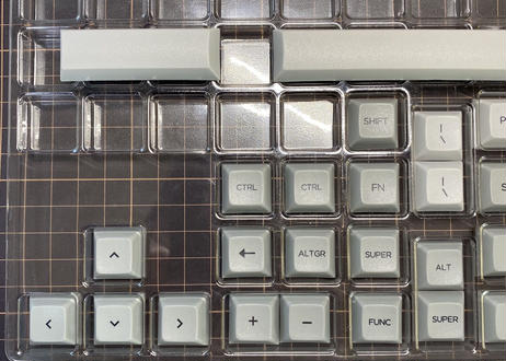 DSA PBT DyeSub キーキャップセット (60%用/グレー/ライトグレー)