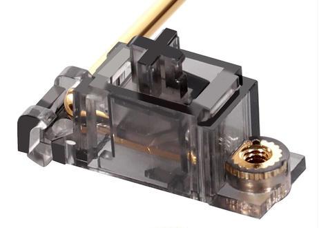 DUROCK V2 2U PCBマウント スタビライザー(スモーキー/ゴールド)