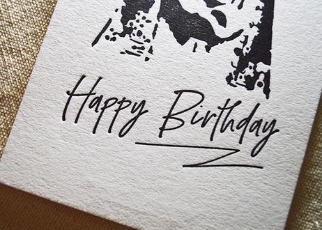 『Happy Birthday with SW』カード  活版印刷
