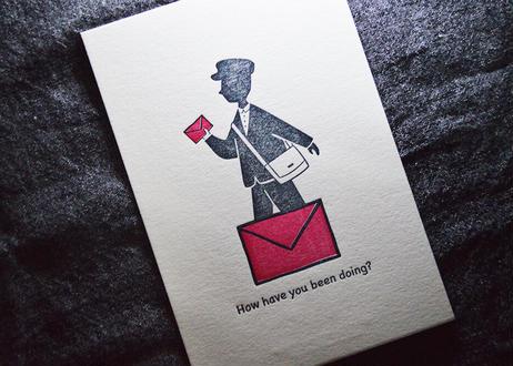 ポストマン de ポストカード    活版印刷