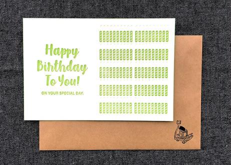 『ロウソク100本の誕生日おめでとう』カード 2set  | 活版印刷