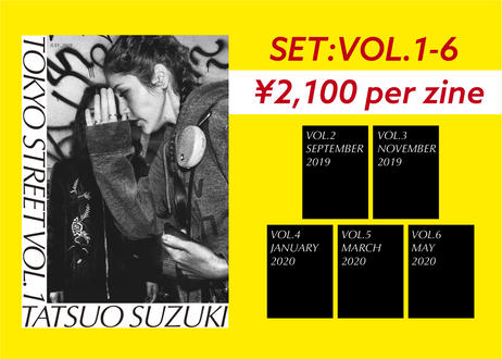 【SET: Vol.1 -Vol.6】 ZINE: TOKYO STREET