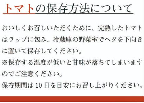 プレミアム 薩摩甘照(大玉トマト)【2022年11月より順次発送予定】