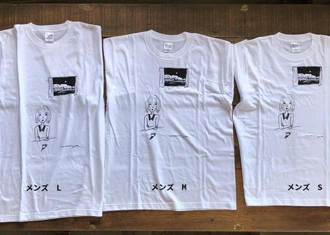 てしまのまどオリジナルTシャツ 白・メンズ
