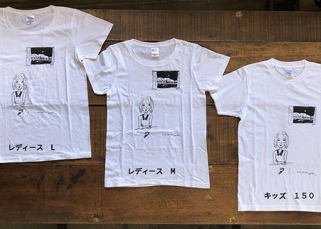 てしまのまどオリジナルTシャツ 白・レディース