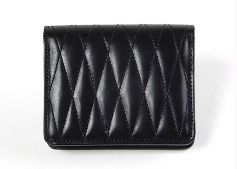 QUILTING BIFOLD WALLET (BLACK)