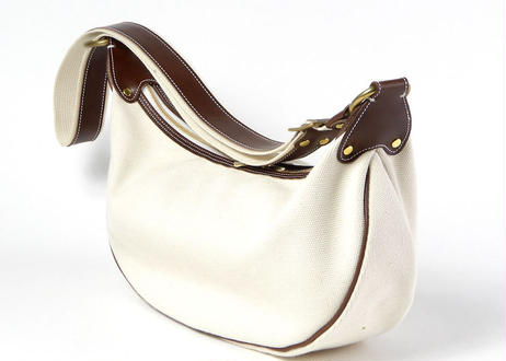 CANVAS BANANA BAG (O/WHITE)