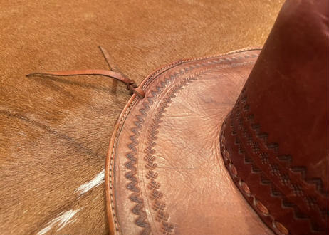 """[IMP-LHAT-BROWN-01] MEXICAN EMBOSSING LEATHER HAT    """"BROWN-01"""""""