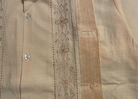 "[IMP-OK-S-PINK01-38] DEADSTOCK IMPORT GUAYABERA S/S ""PINK-1""サイズ38"