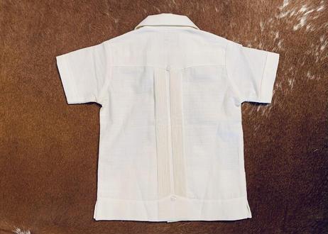 "[IMP-KID-S-WHT01-2] DEADSTOCK KID'S IMPORT GUAYABERA  S/S  ""WHITE-01""サイズ2"
