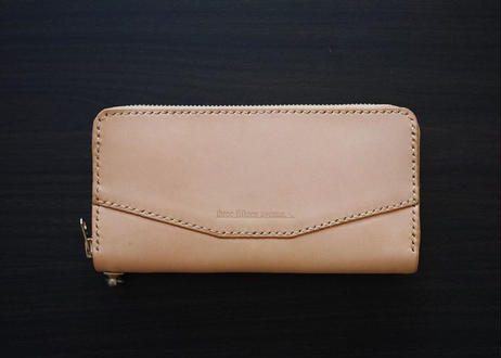 hourglass long wallet -round zip type-