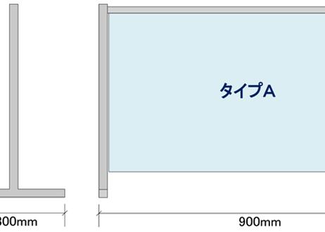 飛沫感染防止スタンド タイプA スタンド・シートセット