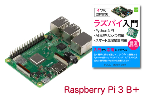 Raspberry Pi 3 Model B+(オンライン教材付き)