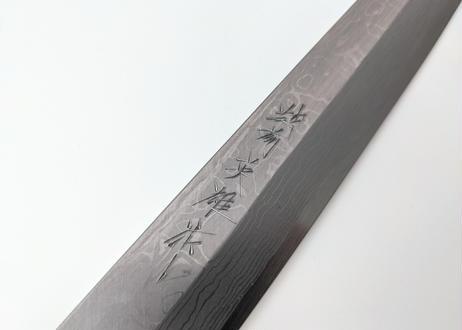 C102 | 白紙積層 | 柳刃9寸 | 紫檀しのぎ柄
