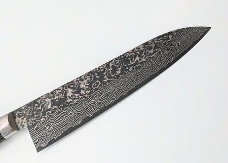 D372 | VG10積層 | 鍔付牛刀210 | 黒染 | 灰黒合板