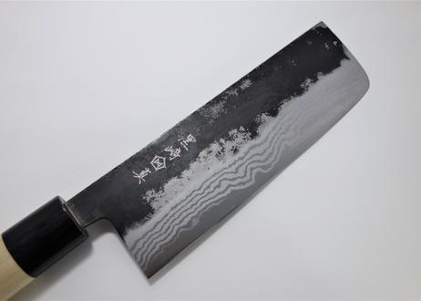 K008 白紙黒打墨流菜切