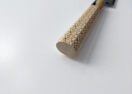 C916 | 白紙積層 | 柳刃8寸 | 水牛角+亀甲八角柄