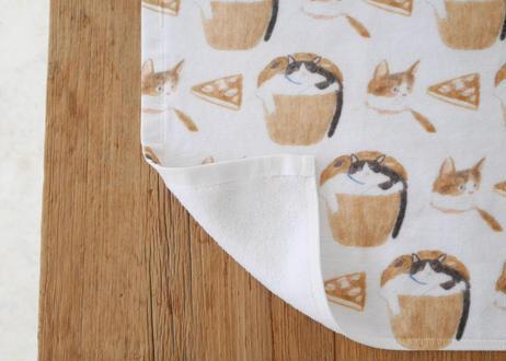 ハンドタオル『猫とお菓子』