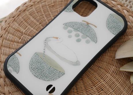 【オーダーした翌月中旬にお届け】iPhoneケース各種「メロンの贅沢な食べ方」