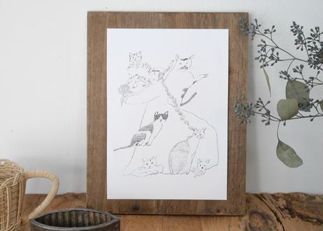 竹下さんちの猫たち A5厚手ポスター